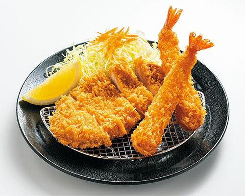 ロースカツ&エビフライ定食